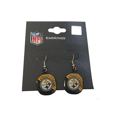 Pittsburgh Steelers Swirl Design Earrigns