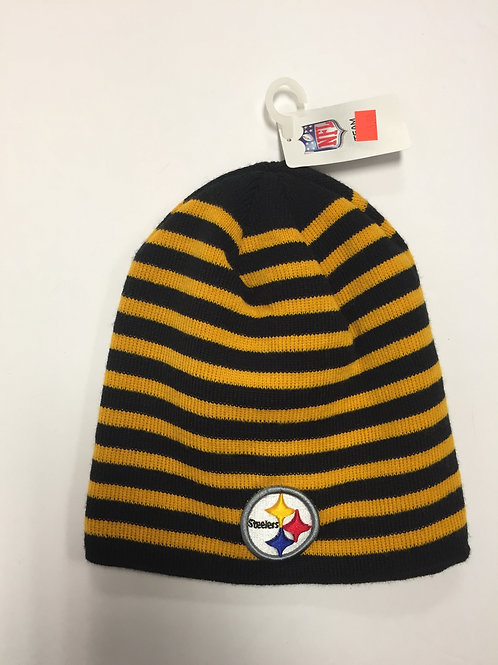 Pittsburgh Steelers Yellow & Black Stripes Beanie Hat