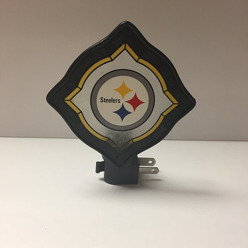 Pittsburgh Steelers Vintage Art Glass Nightlight