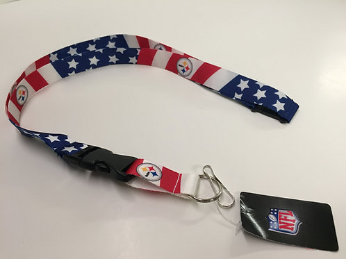 Pittsburgh Steelers American Flag Lanyard