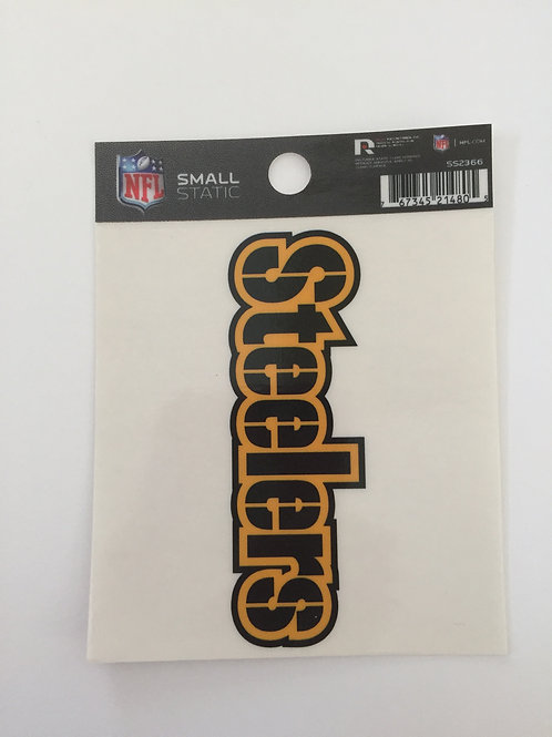 Pittsburgh Steelers Name Small Static Decal