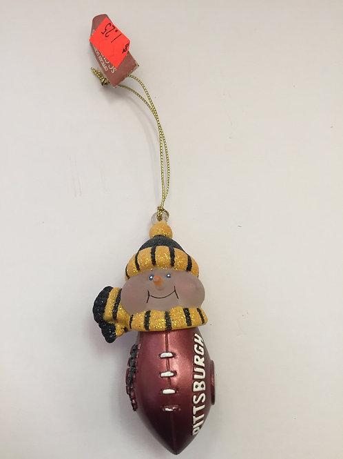 Pittsburgh Steelers,Acrylic Snowman Football Ornament.