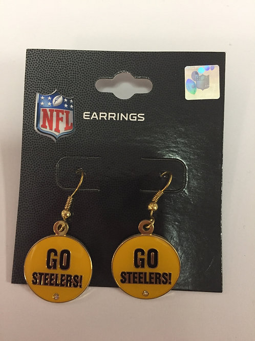 Pittsburgh Steelers 'Go Steelers' Earrings