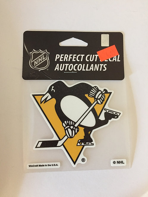Pittsburgh Penguins Colored Perfect Cut Decal Autocollants