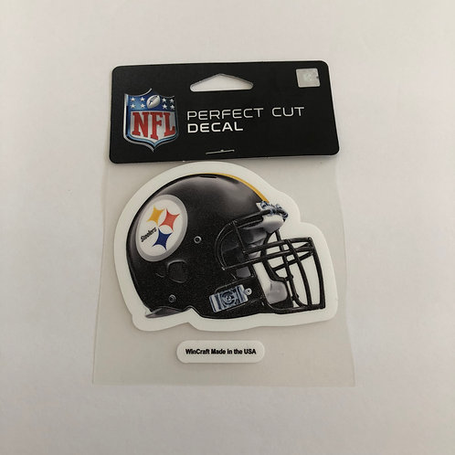 "Pittsburgh Steelers 4""x4"" Perfect Cut Helmet Decal"