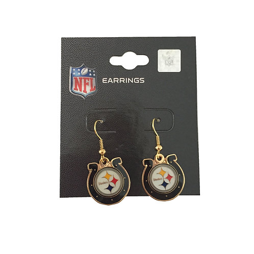 Pittsburgh Steelers Horse Shoe Earrings