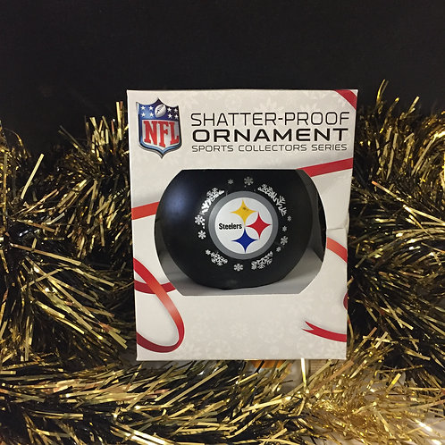 Pittsburgh Steelers Black Shatter Proof Bulb Ornament