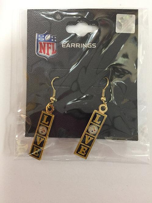 Pittsburgh Steelers 'Love'  Earrings