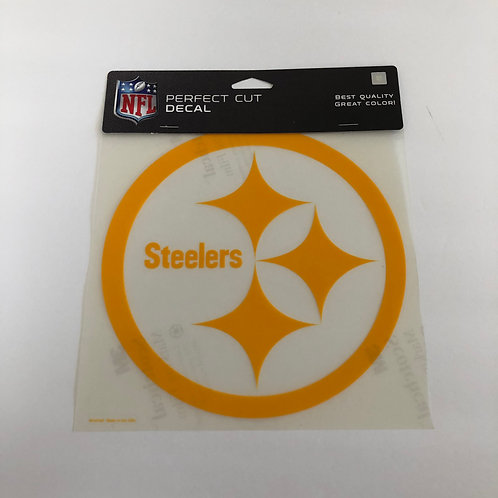 "Pittsburgh Steelers 8""x8"" Yellow Emblem Perfect Cut Decal"