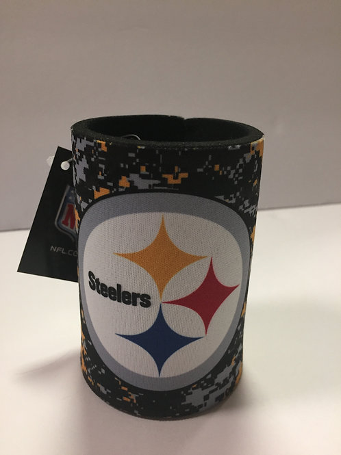 Pittsburgh Steelers Camo Can Cooler Koozie