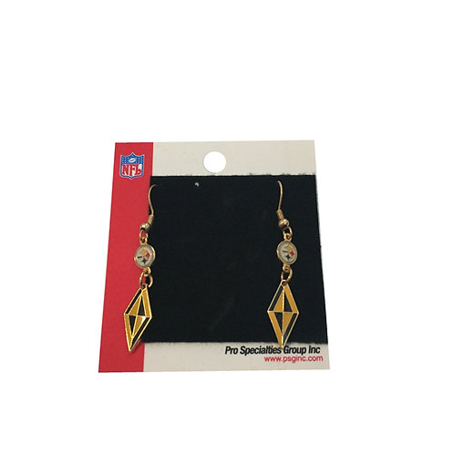 Pittsburgh Steelers Diamond Shape and Emblem Earrings