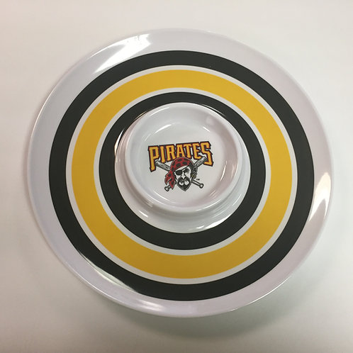 Pittsburgh Pirates Chip & Dip Plate