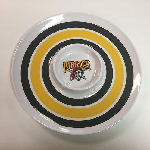 Pittsburgh Pirates Chip & Dip Plate