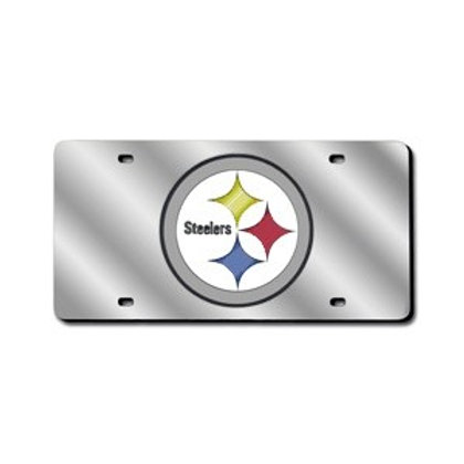Pittsburgh Steelers, Reflective Silver License Plate