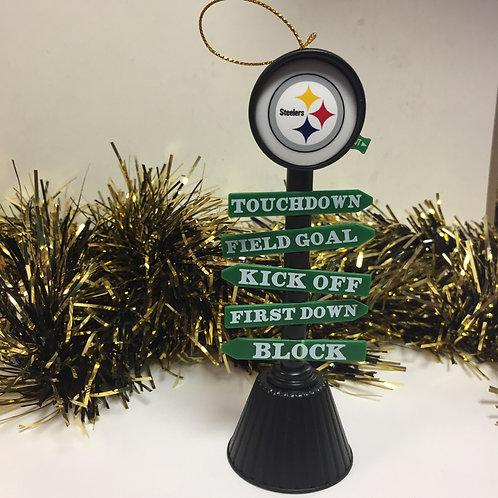 Pittsburgh Steelers Fan Crossing Ornament