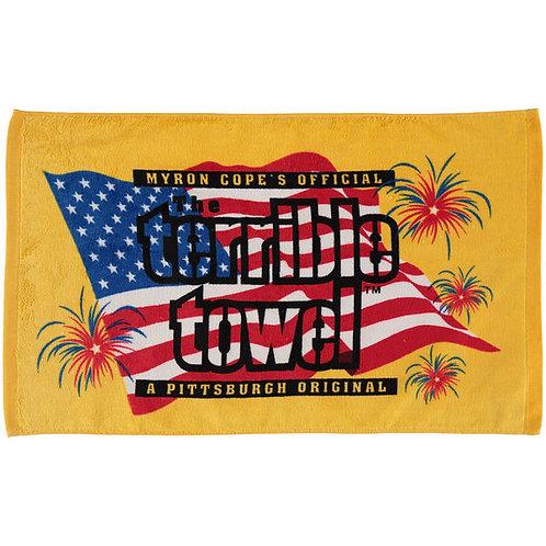 Pittsburgh Steelers Patriotic Flag - Terrible Towel