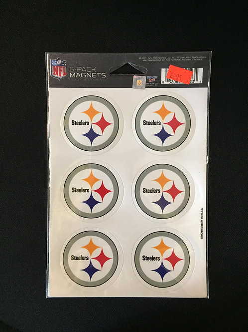Pittsburgh Steelers 6-Pack of Emblem Magnets