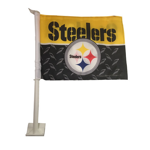 Pittsburgh Steelers Steel Car Flag