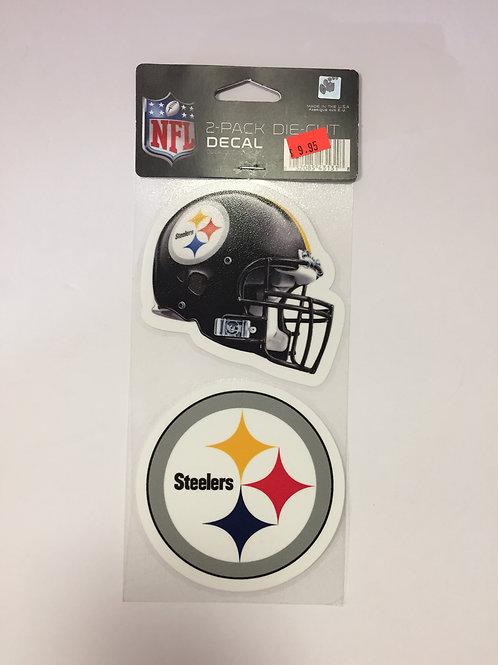 """Pittsburgh Steelers 2 Pack, Die Cut Decal 4""""x4"""""""