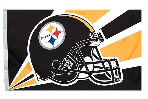Pittsburgh Steelers 3'x5' Helmet Flag