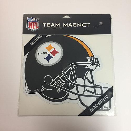 """Pittsburgh Steelers Helmet 12""""x12"""" Team Magnet"""