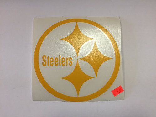 "Pittsburgh Steelers 6""x6"" Yellow Emblem"