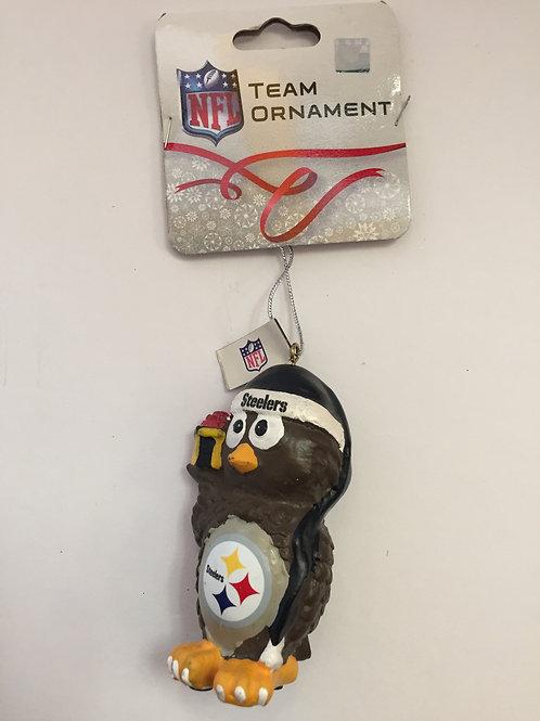 Pittsburgh Steelers Christmas Owl Ornament
