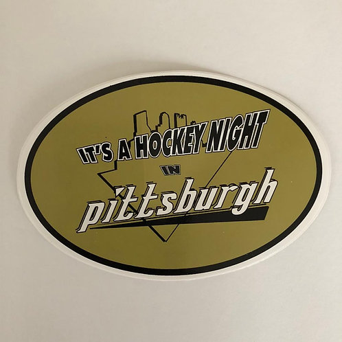 Pittsburgh Penguins 'Its a Hockey Night' Sticker
