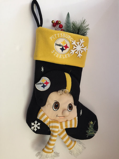 Pittsburgh Steelers Fiber Optic Mascot Stocking