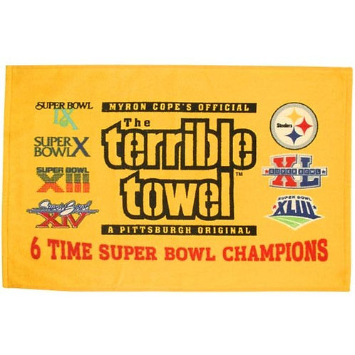 6-Time Super Bowl Champions Gold Terrible Towel