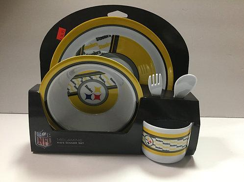 Pittsburgh Steelers Kids Dinner Set