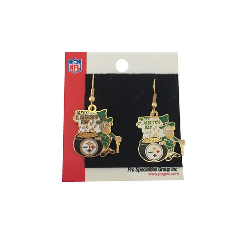 Pittsburgh Steelers St Patrick's Day Earrings