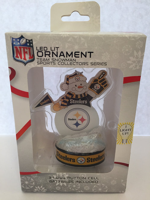 Pittsburgh Steelers Ornament - LED Snowman