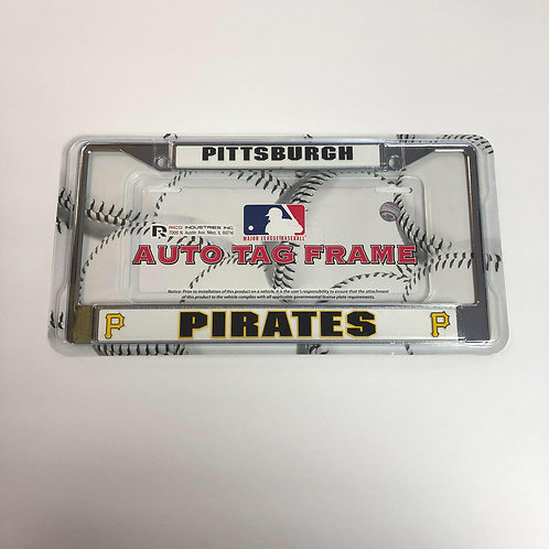 Pittsburgh Pirates, White Auto Tag License Plate Frame