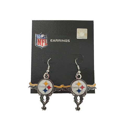 Pittsburgh Steelers Cross Shaped Earrings