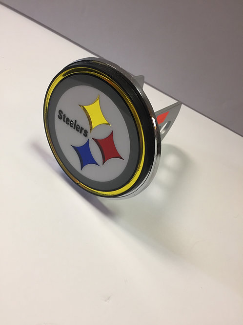 Pittsburgh Steelers Chrome Trailer Hitch Cover