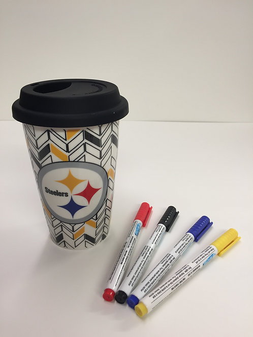Pittsburgh Steelers 'Color Me' Travel Mug