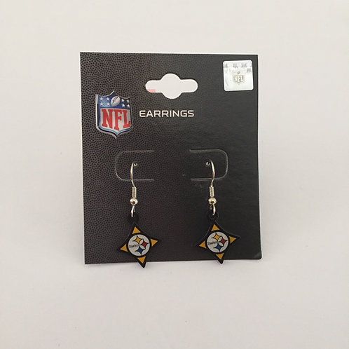Pittsburgh Steelers Diamond Shape Earrings