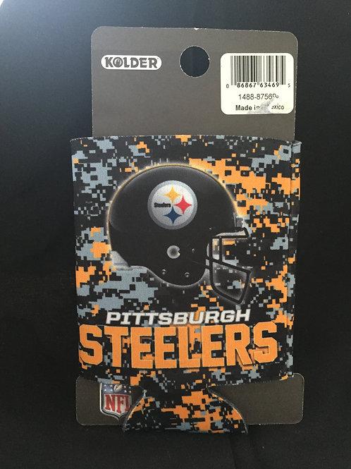 Pittsburgh Steelers Camo Helmet Can Koozie