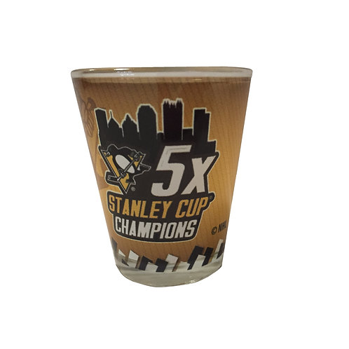2oz 5X Stanley Cup Champions Shot Glass