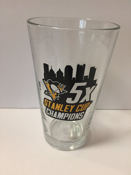 5X Stanley Cup Champions Glass