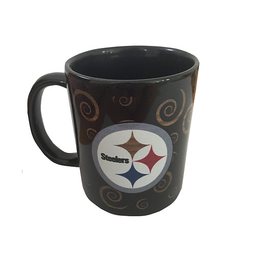 Pittsburgh Steelers Spiral Design Black Mug