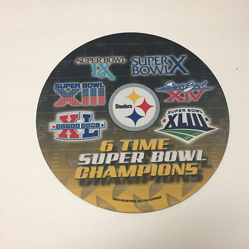 Pittsburgh Steelers 6X Superbowl Champions Mouse Pad