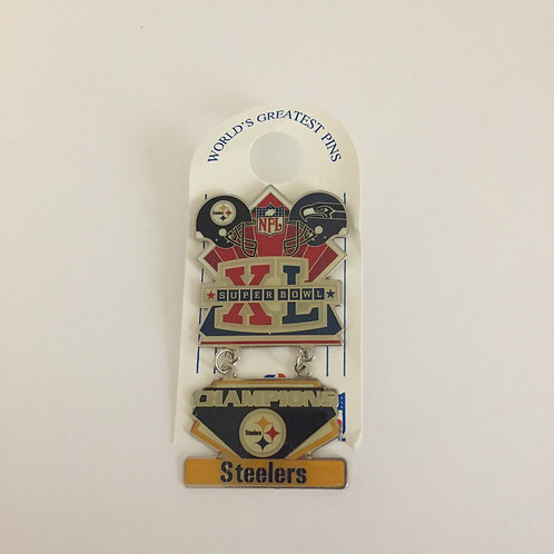 Pittsburgh Steelers Deluxe Superbowl XL Champions Pin