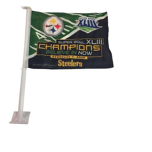 Pittsburgh Steelers SB XLIII Champions Car Flag