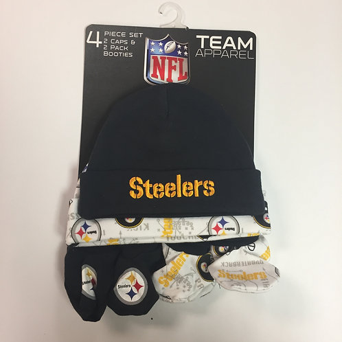 Pittsburgh Steelers, 4 Piece Baby Apparel