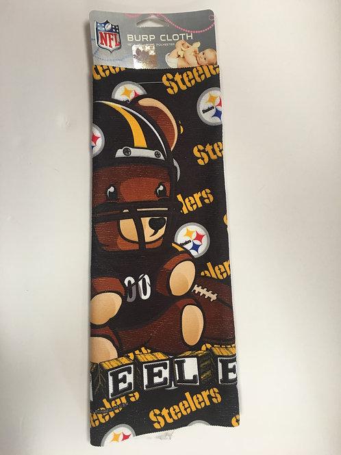 Pittsburgh Steelers Littlest Fan Burp Cloth