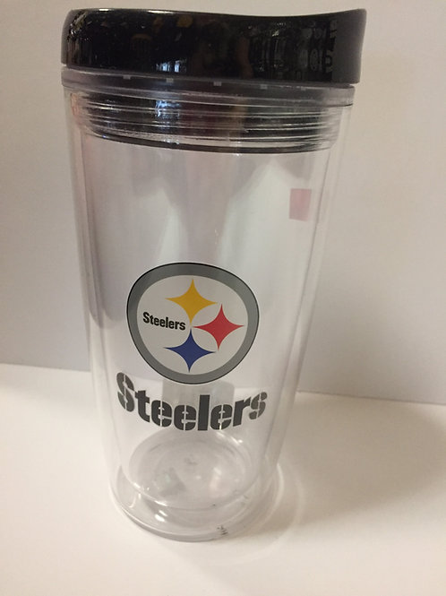 NFL Steelers 15oz Wrap Tumbler with Lid