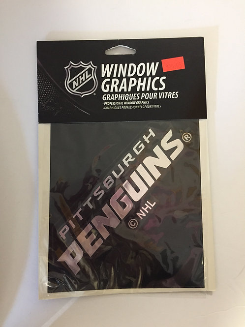 Pittsburgh Penguins Silver Window Graphic
