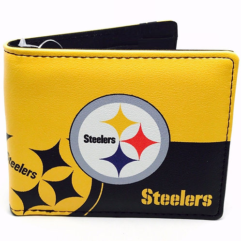 Pittsburgh Steelers Leather Bi-Fold Wallet